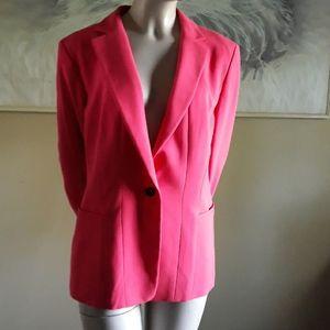 NWOT ANN TAYLOR Deep Pink Blazer Jacket, Size 10